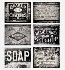 Rustic Kitchen Decor Collection Set Of 6 Black And White Prints Vintage Art