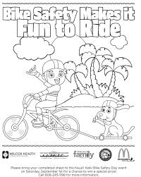 Bicycle Safety Design Inspiration Bike Coloring Pages