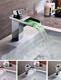 chrom wasserfall wasserhahn bad waschbecken für badezimmer