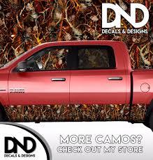 100 Camo Wrap For Truck Blaze Human Skull Rocker Panel Graphic Decal Kit