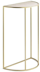 lifa living moderner konsolentisch halbrund gold