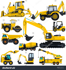 Nice Yellow Big Set Ground Works Stock Vector 308029916 - Shutterstock