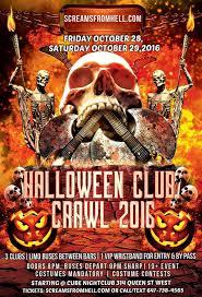 Clarendon Halloween Bar Crawl by Screams From Hell Halloween Club Pub Crawl Downtown Toronto
