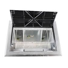 wiremold legrand af1 kc raised floor box with black carpet cover