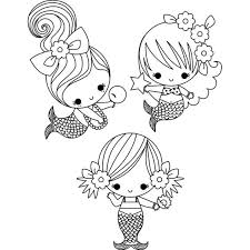 Baby Mermaid Coloring Pages For Kids