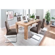mca furniture esstisch nantes massivholztisch ausziehbar mit butterfly auszug