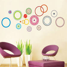 stickers pas cher pas cher cercles colorés chambre décorer enfants chambre stickers