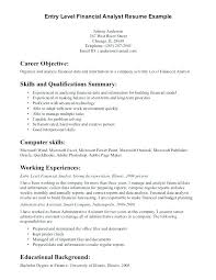 Information Technology Resume Examples 2017 Sample Entry Level Sa