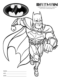 Batman Colouring In Pages Black White