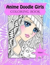 Anime Doodle Girls Coloring Book By JennyLuanArt Volume 1