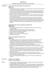 Download Education Program Coordinator Resume Sample As Image File