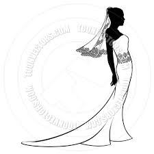 Black Dress clipart vintage wedding dress 12