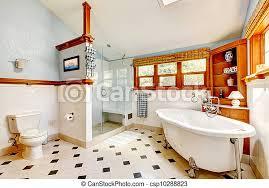 blaues badezimmer klassisch groß inneneinrichtung wanne