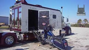 Custom Peterbilt With Its Own Harley-Davidson Garage ...
