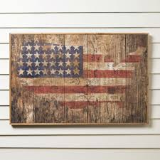 Birch Lane American Flag Wooden Print