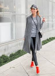 day to night in a sweater dress and leather leggings