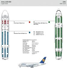 LUFTHANSA AIRLINES AIRBUS A380 800 AIRLINE SEATING MAP LAYOUT