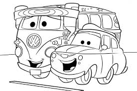 Bright Design Disney Car Coloring Pages Guido Line Up For The Race Cars