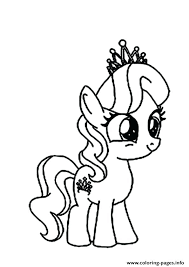 My Little Pony Coloring Pages A Diamond Tiara Rainbow Dash