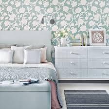 Duck Egg Bedroom Ideas Floral Wallpaper