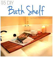 Diy Bathtub Caddy With Reading Rack by Cozy Wood Bathtub Caddy With Reading Rack 6 Full Image For Wooden