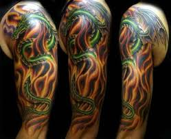 Chinese Dragon Sleeve Tattoo Designs
