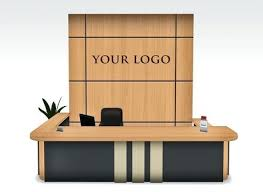 Second Life Marketplace Modern Reception Desk Set Nobel Lobby Furniture