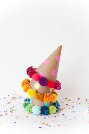 DIY Pom Party Hats Crafts Yarn