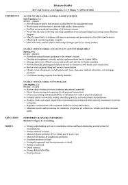 Download Family Office Resume Sample As Image File