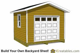 12x12 Shed Plans Pdf by 12x12 Shed Plans With Garage Door Icreatables