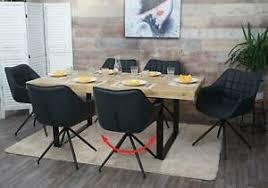 details zu 6x stuhl hwc h44 esszimmerstuhl drehbar kunstleder dunkelgrau fuß schwarz