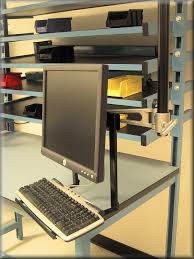 Desk Mount Monitor Arm With Keyboard Tray by Rdm Ergonomic Monitor Arm Products
