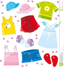 Cotton Clothes For Summer Clip Art 11