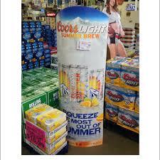 Coors Light Summer Brew Floor Display
