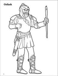 An Arabic Illustration Of Goliath Coloring Page