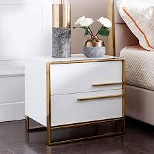 ukmaster nachtschrank nachttisch für boxspringbetten modern beistelltisch mit 2 schubladen nachtkommode für wohnzimmer schlafzimmer 50 x 40 x 56 cm