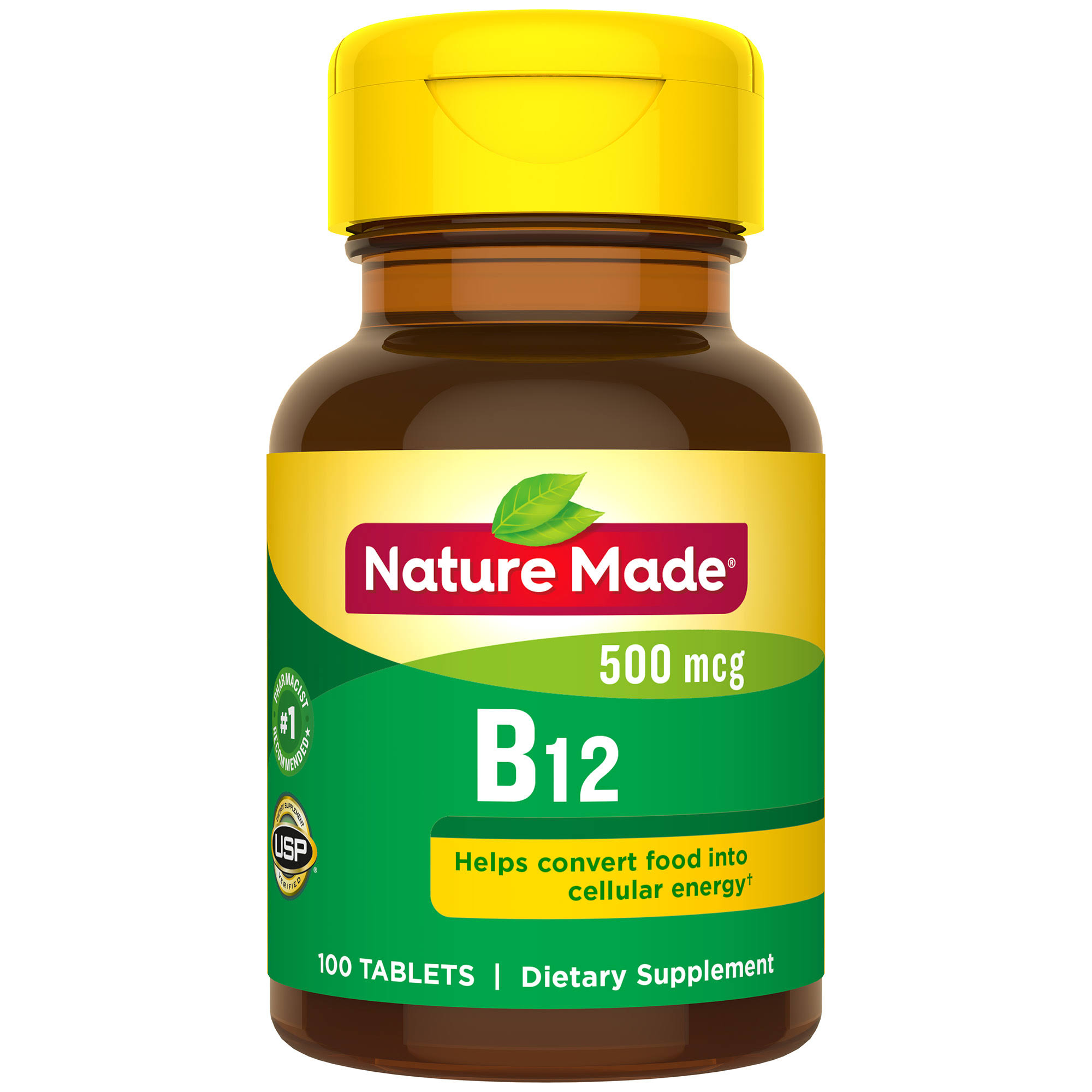 Nature Made B-12 Vitamin 500MCG Dietary Supplement Tablets