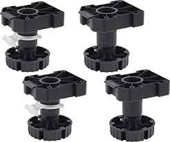 metafranc sockelfüße 100 mm praktisches 4 er set höhenverstellbar 90 bis 118 mm für den ausgleich unebenheiten mit sockelklammer