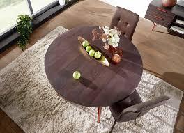 finebuy esszimmertisch fb51441 tisch 118x79x118 cm massivholz metall industrial esstisch rund massiv akazie küchentisch holztisch esszimmer