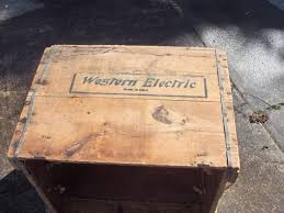 Rare Antique Western Electric Large Wood Shipping Crate