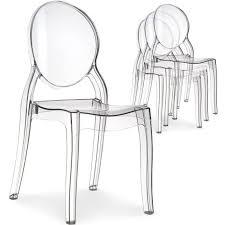 chaises plexiglass lot de 4 chaises médaillon plexi transparent achat vente