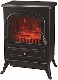 krollmann elektrokamin schwarz mit flammen effekt wohnzimmer kamin mit 2 leistungsstufen kaminofen elektrisch mit heizung 000500