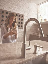 Ferguson Moen Kitchen Faucets by New Riley Pulldown Kitchen Faucet From Moen Sold Exclusively At