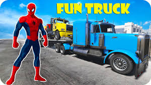 FUNNY TRUCK !!! With SPIDERMAN & Lightning MCqueen Car L Nursery ...