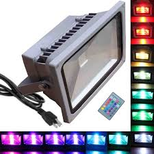 20w rgb flood light tdltek 20w rgb color changing