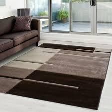 moderner designer konturenschnitt 3d wohnzimmer teppich hawaii 1310 braun
