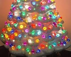 25 FACET CUT GLOBE 9 Colors Bulb Light Ceramic Christmas Tree Star Twist Flame