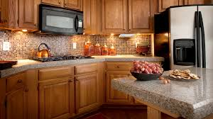 bathroom oak kitchen cabinets with cabinet lighting and