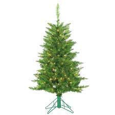 4 Ft Pre Lit Christmas Tree by Sterling 4 Ft Pre Lit Green Tuscany Tinsel Artificial Christmas
