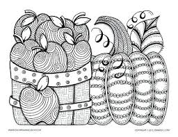 Free Printable Coloring Pages For Autumn Page Grown Ups And Adults Apples Pumpkin To Color Fall